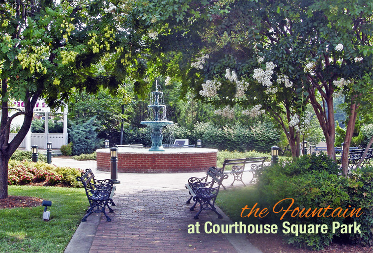 The Fountain at Courthouse Square Park, Albemarle NC